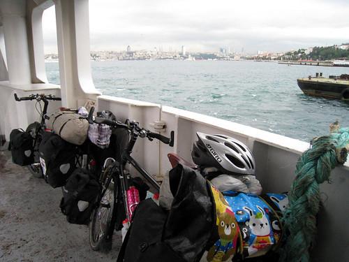 Bikes on Harem ferry