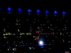 Matt & his lights suit (Caliifornication) Tags: uk chris england people matt drums concert tour bass guitar matthew stadium dom howard gig crowd piano september muse dominic resistance wembley bellamy wolstenholme the soucoupe