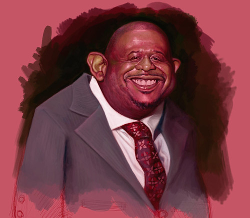 School Assignment 5 - caricature of Forest Whitaker - 7 small