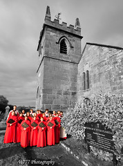 Chester Cathedral Choir at Plemstall Church (cathedralchoir) Tags: selectivecolouring diocesan w777 plemstall