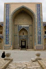 Ulughbek (Ulugh Beg) Medressa, Bukhara (Buxoro, , ), Uzbekistan (Ozbekiston, ) (Loc BROHARD) Tags: uzbekistan ozbekiston ozbekstan  ouzbkistan centralasia asia sovietunion persiansamanid timuridempire uzbek boukhara bukhara buxoro    uxrak bokhara unesco worldheritagesite tajiks soghdians wall gate street fort fortress mosque minaret mosque mausoleum majolica madrasah madrassa mdersa medrese  madrasa madarasaa medresa madraza madarsa ghanch alloquli calligraphy calligraphie islam persia persian perse silkroad greatsilkroad poikalancomplex poikalan poikaln   kalyan minraikaln kalyanminaret kalyanmosque maedjidikalyan ulughbek ulughbeg earthasia anawesomeshot