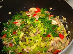 Sauteed fixins for Clam Dinner_9-26-10 (jimbrickett) Tags: dinner seafood homecooking jimbrickett clamdinner pastaandclams 92610foodclams
