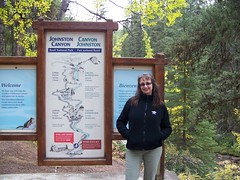 Me at Johnston Canyon (gottasharepics (Kathy Dempsey)) Tags: banff canadianrockies johnstoncanyon kathydempsey