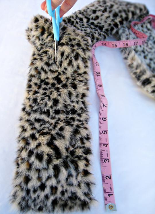 faux fur leopard scarf DIY -11