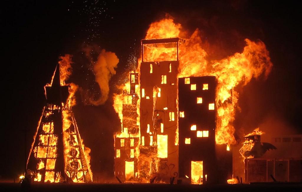 San Francisco burning