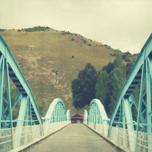 blue bridge.