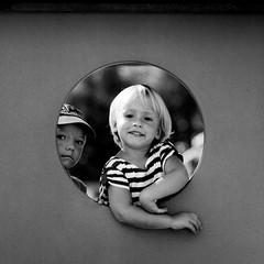 Retro shot (Tanel Teemusk) Tags: portrait people window playground kids happy gettyimagesestoniaq2