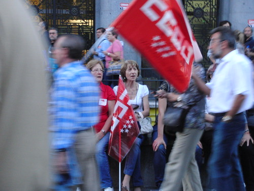 descansando - huelga general - manifestación en madrid