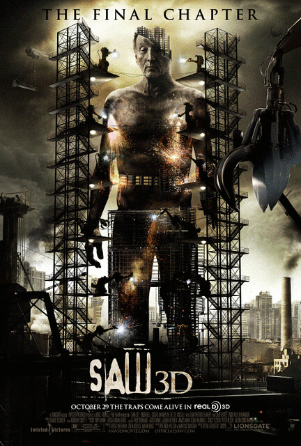 Saw 3D jigsaw construction poster