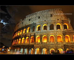 Colosseum at night (teddy771) Tags: sky italy rome roma art architecture night lights scary italian nikon long exposure italia roman amphitheatre dramatic colosseum empire imperial coliseum middle ages flavin d300s bestofmywinners