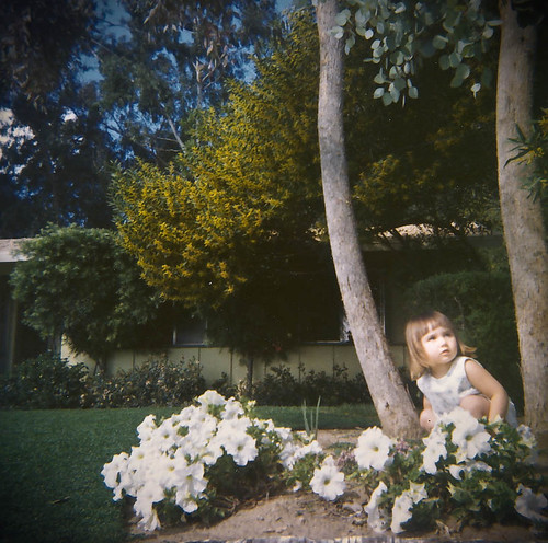 Me in the garden, age 3?
