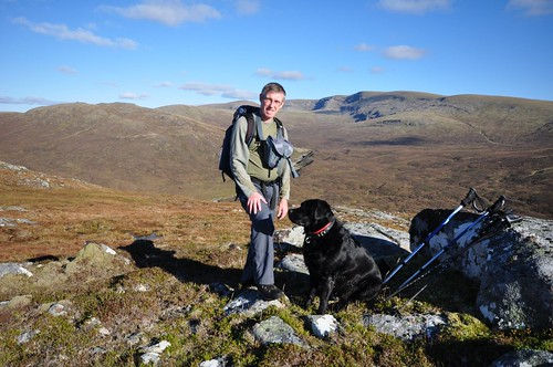 Me with Creag Meagaidh in the background