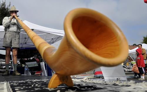 An alpen horn at Oaktoberfest (Contra Costa Times)