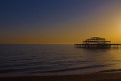 Sillouette: Brighton: (desimage) Tags: sunset england night coast pier brighton south clear brightonpier supershot abigfave flickrdiamond