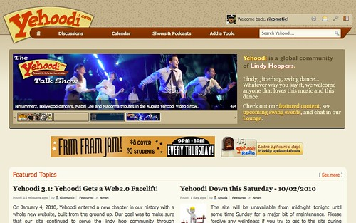 yehoodi3.1 Front Page