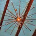 The Sputnik lamp over the indoor pool
