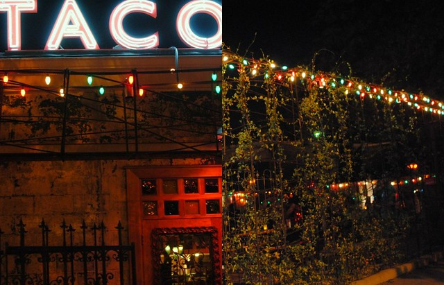 taco boy/colorful lights