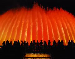 Font Magica - Barcelona (Giuseppe Finocchiaro) Tags: barcelona red water silhouette nikon espana font acqua rosso fontana montjuic spagna magica espanya colorphotoaward