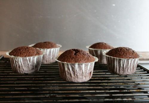 chocolate-espresso muffins