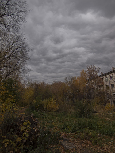 Autumn sky in Novosibirsk