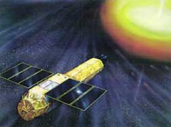Artists rendering of the Astro-E satellite