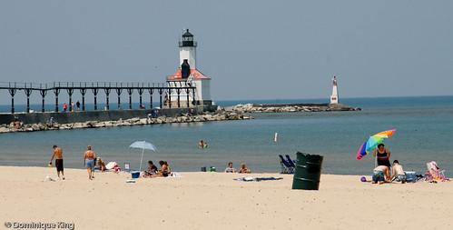 Michigan City Pier Lighthouse Indiana
