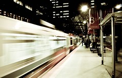 Swoosh (Surrealplaces) Tags: canada calgary station train downtown platform alberta transit lrt ctrain