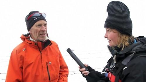 Jon Sjurgard forteller om sikkerhet på bre