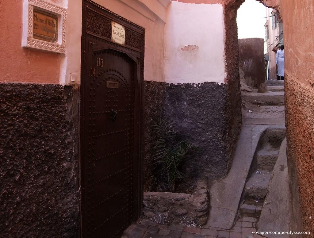 Entrée du Riad Sidi Ayoub