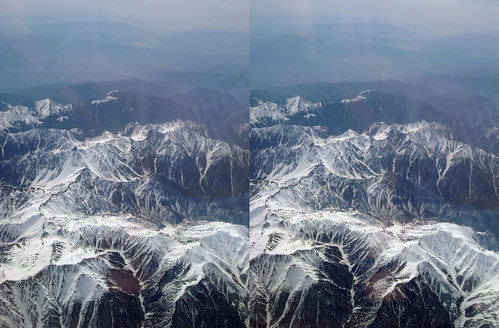 Hida Mountains, stereo parallel view
