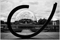 Antigravitational Sigma (Manolis Maridakis) (Guillaume VX) Tags: bw reflection buildings nb reflet geode sculptures lavillette lightroom bâtiments silverefexpro