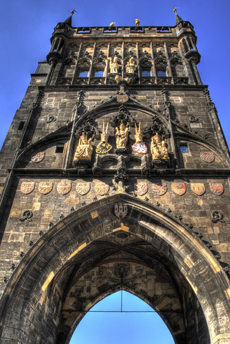 Old town tower. Prague. Torre de la Ciudad Vieja. Praga
