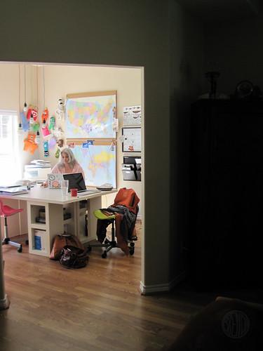 omsh in her school room