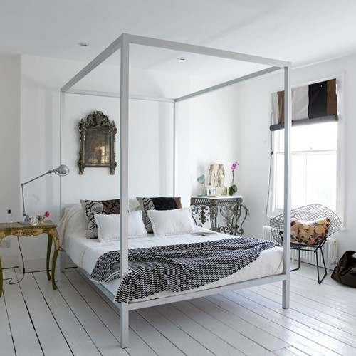 Retro white bedroom