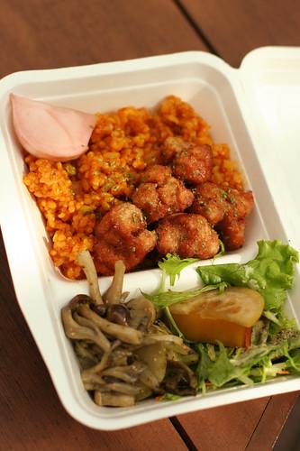 vegie jambalaya lunch box