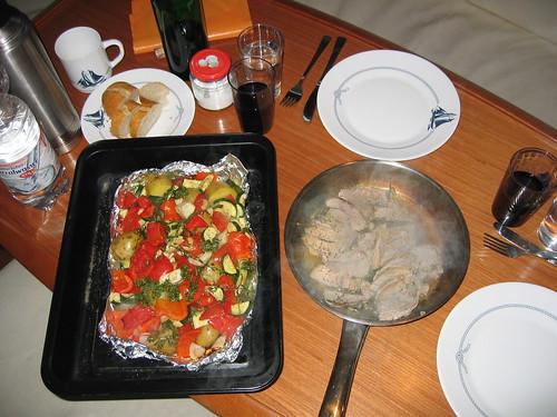 Schweinefilet mit mediterranem Gemüse