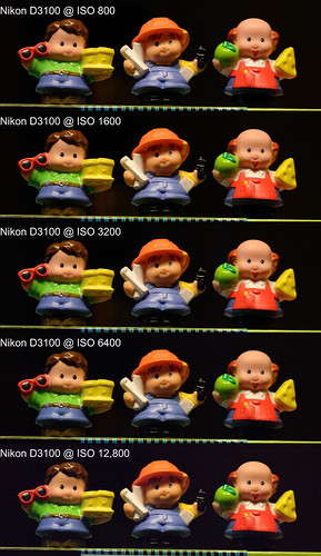 Nikon D3100 High ISO Comparison - 3 Little People