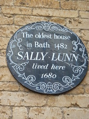 Photo of Sally Lunn brown plaque