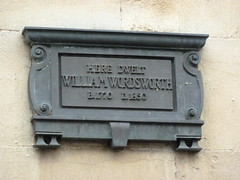 Photo of William Wordsworth bronze plaque