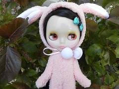 Little Bunny Foo Foo (René as a bunny)