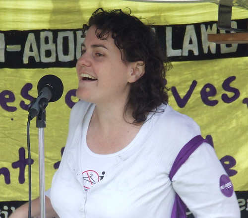 Susan Shaw of the Pro-Choice Action Collective speaks at the Pro Choice Rally, Queens Park, George and Elizabeth Sts, Brisbane, Queensland, Australia 101009