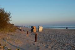 Strandkrbe in der Morgensonne (kafeustel) Tags: beach strand sunrise raw sonnenaufgang ostsee usedom heringsdorf d700
