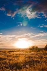 HDR de atardecer en el altiplano de Baza (Vamdlt) Tags: sunset landscape atardecer halo paisaje reflect reflejo campo 18200 aura hdr d90 cuevasdelcampo vamdlt