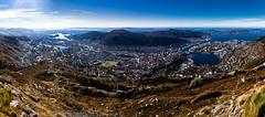 Ulriken, Bergen, Norway. (Carl Riot) Tags: blue red oktober color norway composite canon norge riot carl 5d canonef35mmf2 bergen ulriken mk hordaland 35mmf2 ulriksbanen 5dmkii