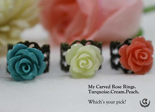 my carved ring(M)  - set 2