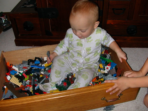 Oct 30 2010 Elden in toy box
