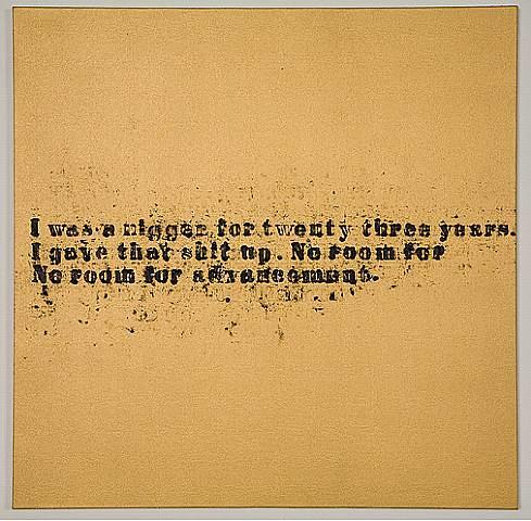No Room #36 Glenn Ligon