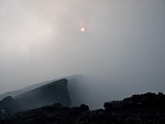 Misty Sunset Over the Congo (Magic Pea) Tags: africa travel sunset sun mist storm travelling fog photography volcano photo nationalpark congo drc eastafrica drcongo centralafrica democraticrepublicofcongo virunga nyiragongo virungas magicpea volcanicmist mountnyiragongo