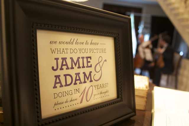 guestbook sign I made. Yes, that IS a string quartet in the background; thank you for asking!