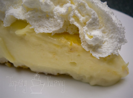 sour cream lemon pie slice